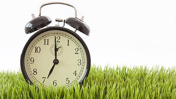 Daylight time for 2010 begins on the weekend of March 14. Be sure to set your clock ahead an hour.