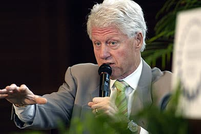 Former U.S. president Bill Clinton: A natural storyteller. (Mike Wintroath/Associated Press)
