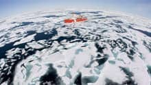 The Canadian Coast Guard icebreaker Louis S. St-Laurent makes its way through the ice in Baffin Bay in 2008. Arctic waterways have increasingly become ice-free in recent years, opening them up to more marine traffic.