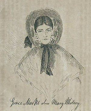 Grace Marks alias Mary Whitney (Toronto Public Library - click to go to CBC article)