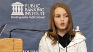 Victoria Grant of Cambridge, Ont. has become an internet sensation after her April 27 address at the Public Banking in America Conference.