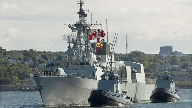 HMCS Charlottetown returns to Halifax on Tuesday, Sept. 11, 2012. The vessel was deployed in the Mediterranean and the Arabian Sea for almost nine months.
