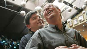 Joe Varnell, left, and Kevin Bourassa of Toronto were the first North American gay men to be legally married.