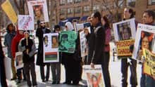 Demonstrators gathered in downtown Halifax Saturday in support of the people of Libya.