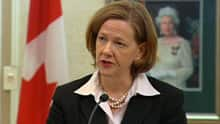 Premier Alison Redford committed during her campaign for the PC leadership to review transmission line projects.
