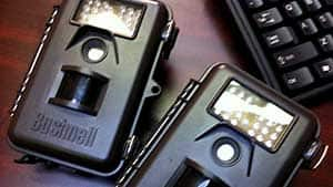 The motion-actived cameras installed by the RCMP are commonly used by hunters to capture images of game in the wilderness.