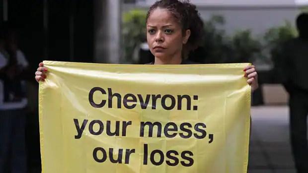 Chevron oil spill protest
