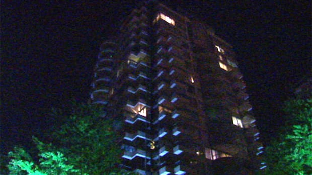 A toddler died after falling from a ninth-floor apartment balcony in Surrey, B.C.