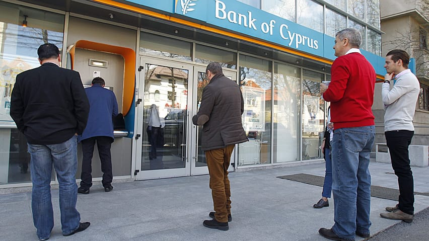 Depositors at the Bank of Cyprus will seen 47.5 per cent of their savings above the insured level of 100,000 euros vanish under the proposal.