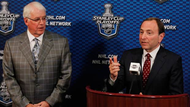 Gary Bettman and Greg Jamison NHL Phoenix Coyotes ownership Glendale