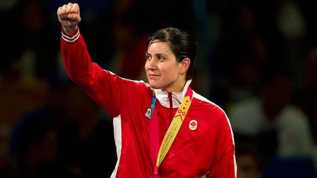 Mary Spencer won gold in the 75-kg weight class at the Pan Am Games in Mexico in October.