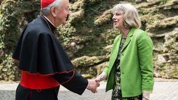 Cardinal congratulates new Prime Minister Theresa May