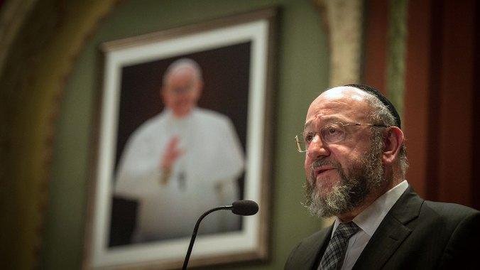 Former Chief Rabbi Jonathan Sacks gave inaugural Benedict XVI Lecture