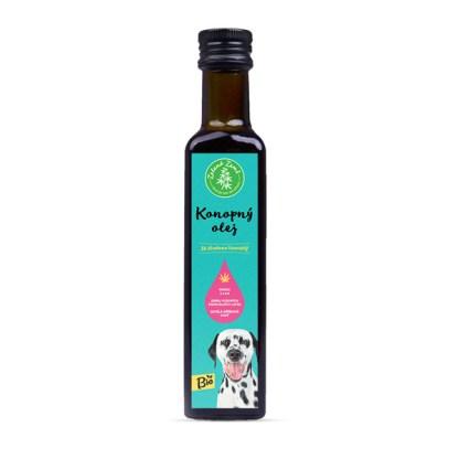 Konopný olej pre zvierata Zelená Země,BIO kvalita, 250ml