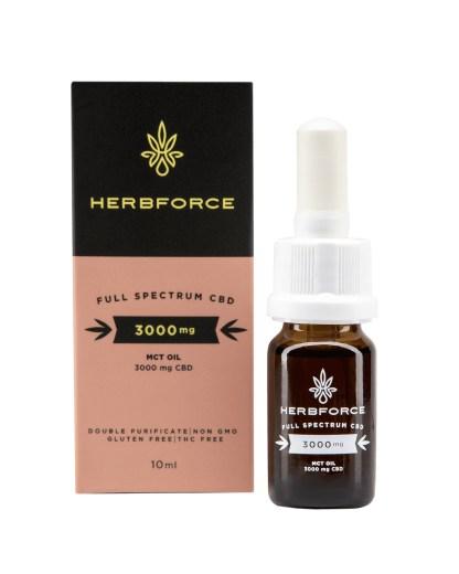 CBD olej/kvapky HERBFORCE, 30 %