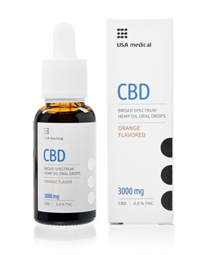 CBD olej/kvapky USA medical, 3 000 mg