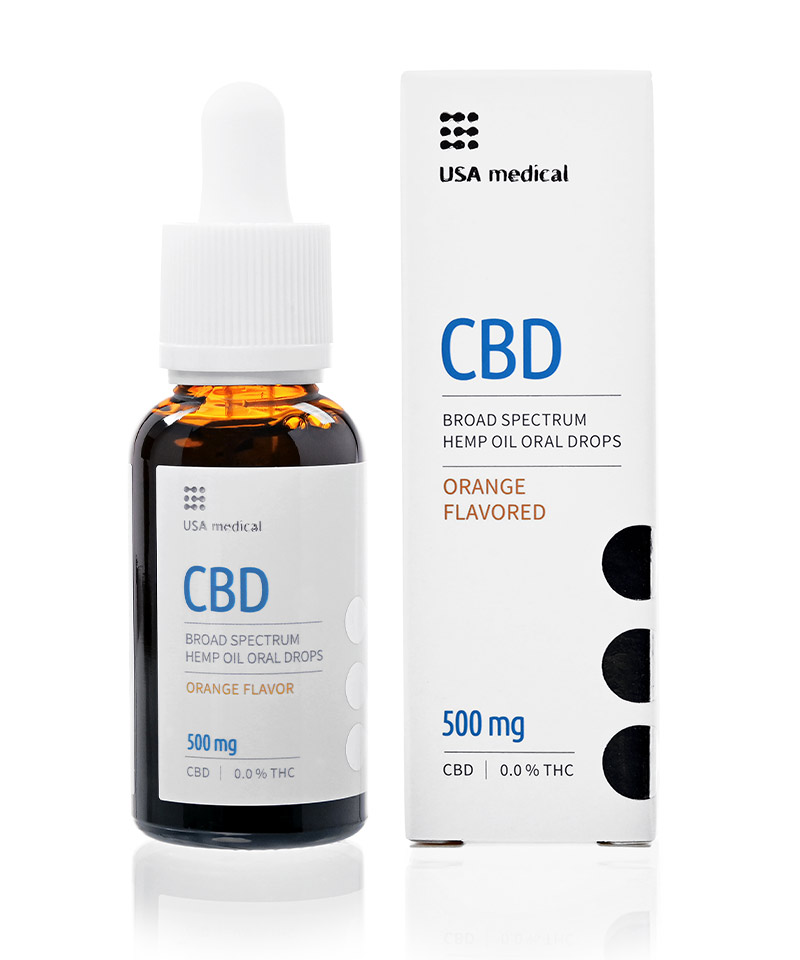 CBD olej/kvapky USA medical, 500 mg