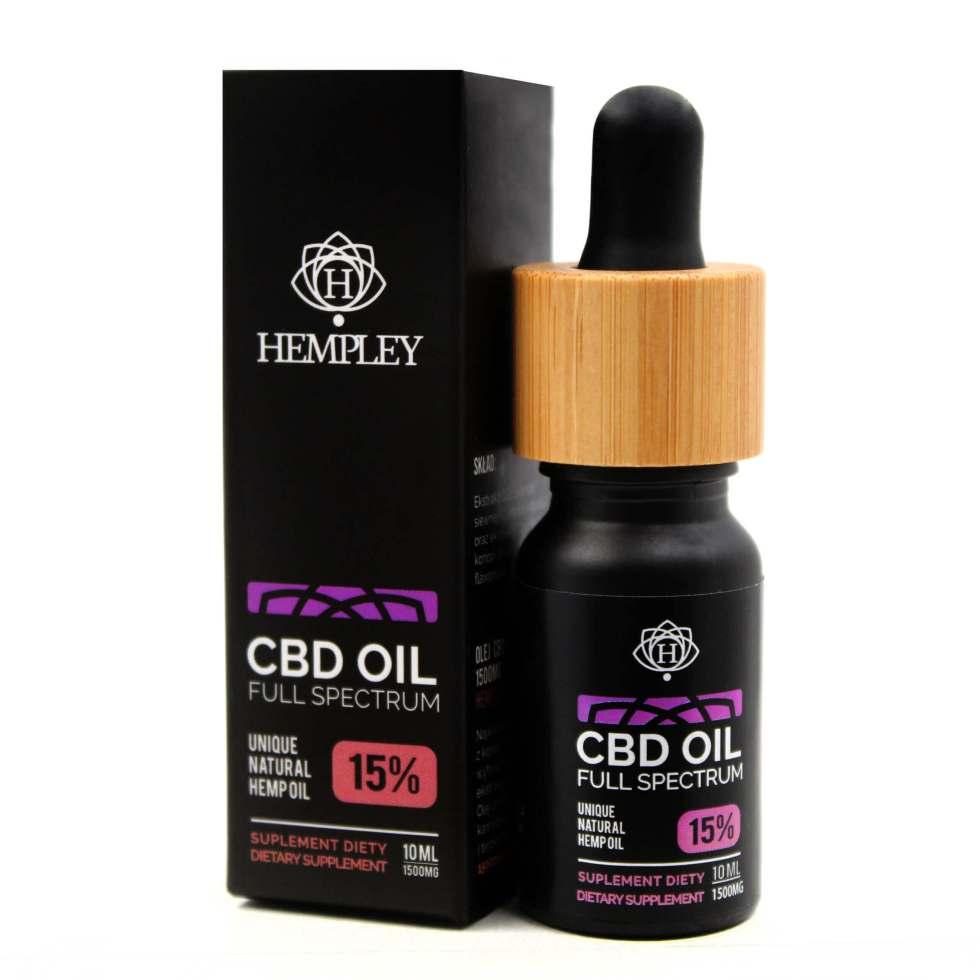 CBD olej/CBD kvapky Hempley, 15 %