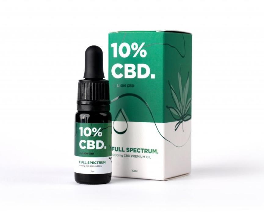 CBD olej / CBD kvapky Lion CBD, 10 %