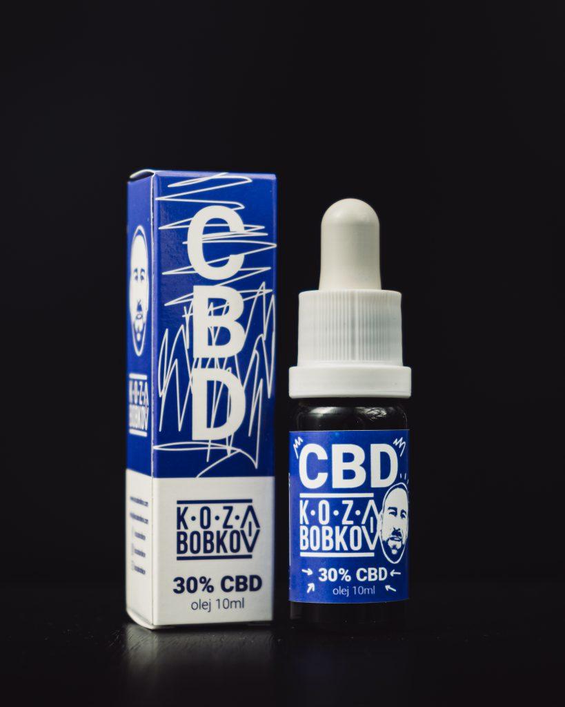 CBD kvapky Koza Bobkov, 30 % CBD izolát, 10ml