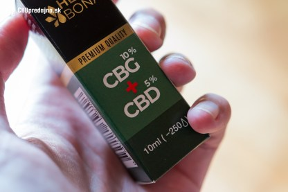 CBG + CBD kvapky Hemp Bona, 10 + 5 %, 10ml