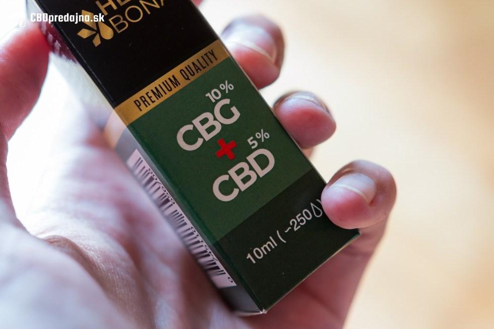 TEST CBG CBD olej Hempbona