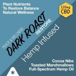 RESTORE DARK ROAST - Hemp Oil Infused Coffee (120mg CBD per 12oz Bag)