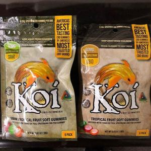 Koi CBD Gummies Tropical Flavors 10mg each/6 Pack Great For Anxiety & Pain NO THC