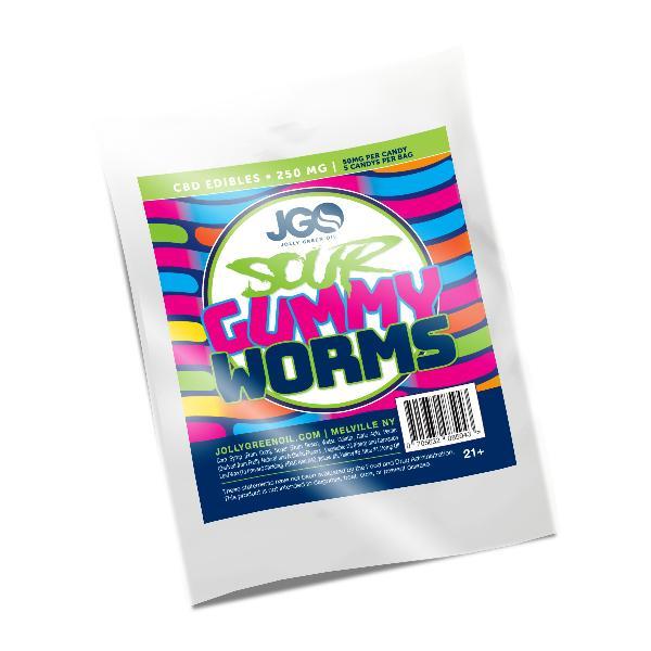 JGO Gummies - Sour Gummy Worms 250mg