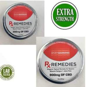 Rx Remedies Warming Balm 300mg or 900mg