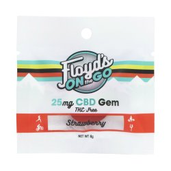 Floyd's of Leadville Gummy- Strawberry 25mg/1 Count Pack