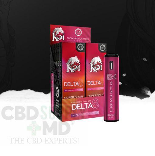 Koi Delta 8 Super Sour Zkittles Disposable Vape Bar