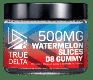 True Delta 8 – Watermelon Slices Gummies 500mg