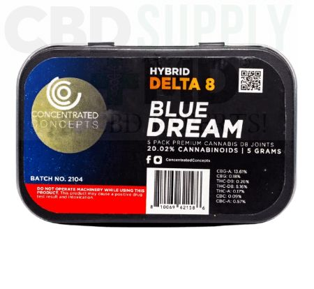 Blue Dream D8 Wrapped Pre-Roll (5 Pack)