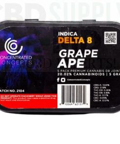 Grape Ape D8 Wrapped Pre-Roll (5 Pack)