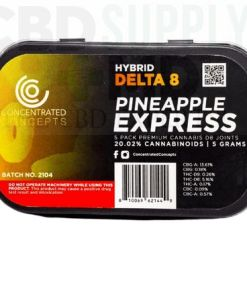 Pineapple Express D8 Wrapped Pre-Roll (5 Pack)