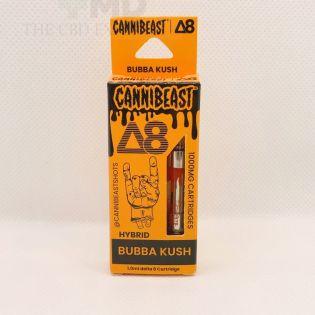Cannibeast Delta 8 Cartridge 1000MG Bubba Kush Hybrid