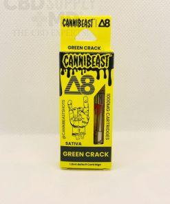 Cannibeast Delta 8 Cartridge 1000MG Green Crack Sativa