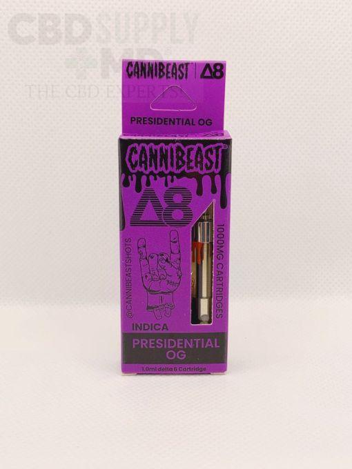 Cannibeast Delta 8 Cartridge 1000MG Presidential OG Indica
