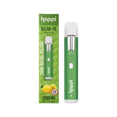 Happi Delta 10 Disposable Vape Sour Diesel Delight 2 Grams 376x376 1