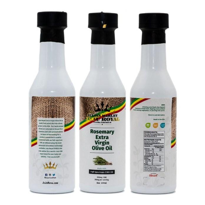 JuJu CBD infused olive oils