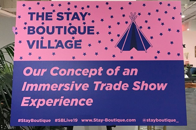 Stay Boutique Live signage