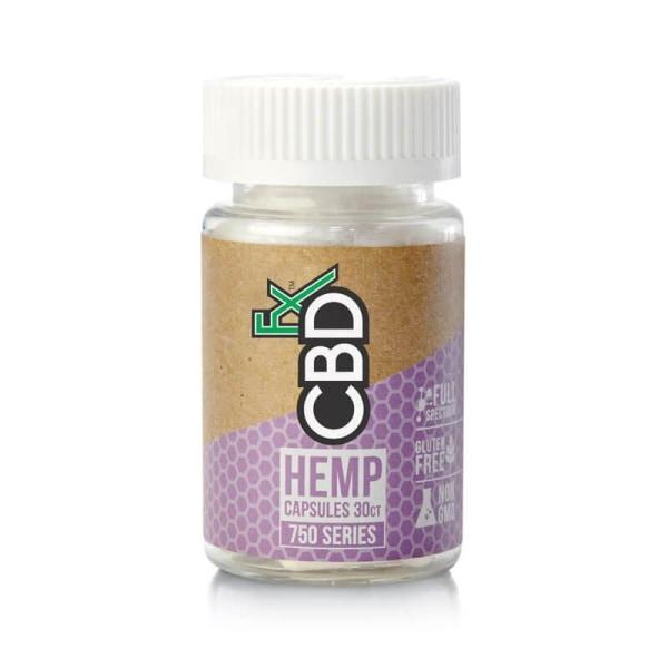 CBDFx Hemp Capsules 30ct 750mg CBD