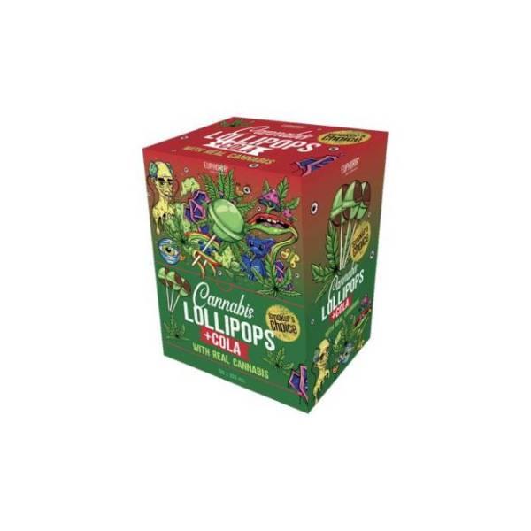 Euphoria Big Pack Cannabis + Cola Lollipops 12g x 200pcs