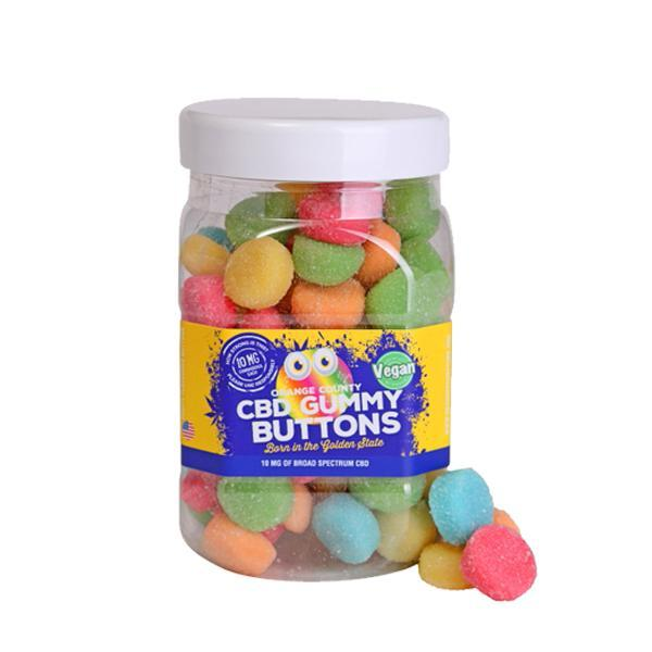 Vegan CBD Gummy Buttons 10mg of Broad Spectrum CBD