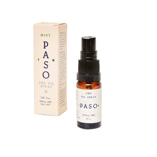 Paso CBD Oral Oil Spray 1000mg (10ml) Mint