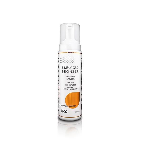 Simply CBD Bronzer 75mg CBD Spray Tanning Mousse 200ml