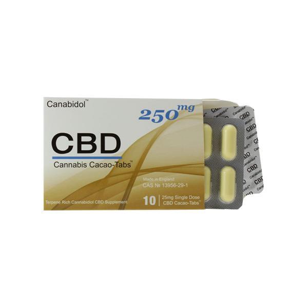 Canabidol 250mg CBD Cacao Tabs