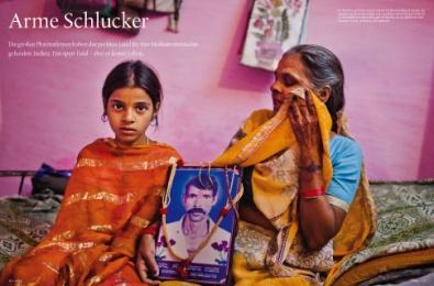 Arme Schlucker in Indien