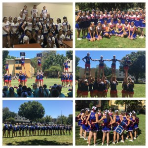 all three levels attended cheerleading camp at sac state in july the girls did an excellent job and earned multiple awards including a new years day bowl